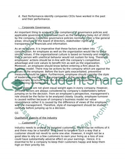Answer 5 questions - do not need MLA style essay example