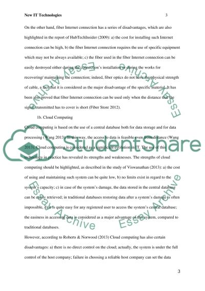 New IT Technologies Paper essay example