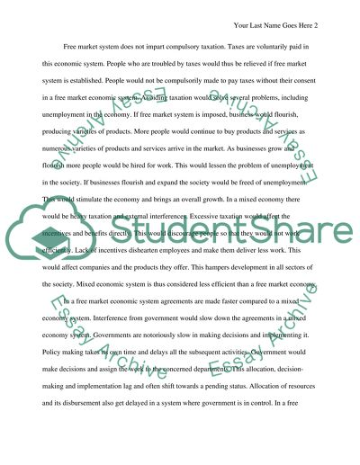 Narrative Essay Papers Economic System Essay Com In English also Write A Good Thesis Statement For An Essay Economic System Essay Example  Topics And Well Written Essays  Essay Health Care