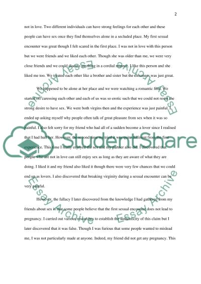 Sex Education essay example