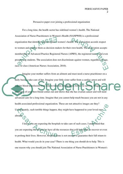 Narrative Essay Examples High School Persuasive Paper Over Joing A Professional Organziation Thesis Statement For Definition Essay also High School Vs College Essay Compare And Contrast Persuasive Paper Over Joing A Professional Organziation Essay Abortion Essay Thesis