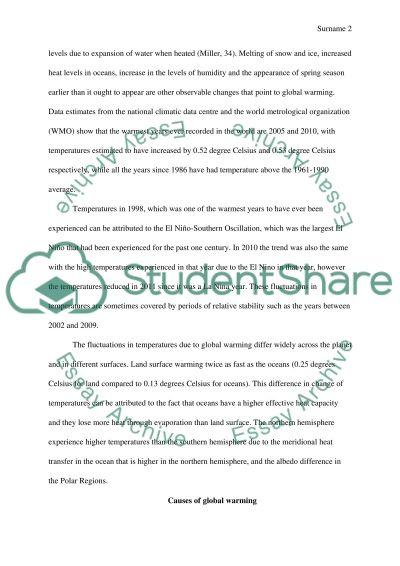 Global warming essay student essays summary