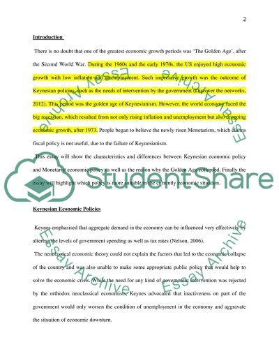 Economy Foundation course essay 1