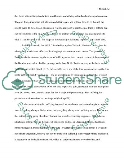 Religion - World Religion essay example