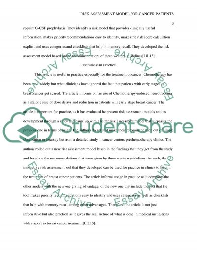Evidence Based Article Essay example