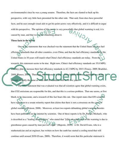 An Inconvenient Truth essay Essay — Free college essays