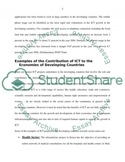 ETHICAL AND SOCIAL IMPLICATIONS OF ICT essay example