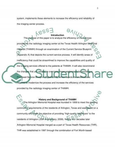Service Blueprint essay example