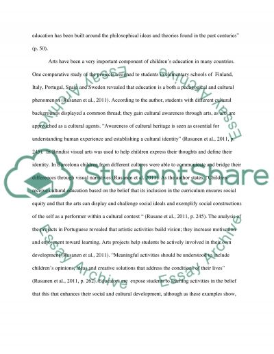 The Value of Art in Education essay example