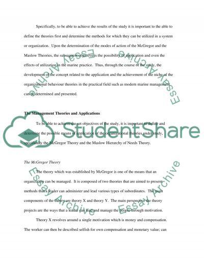 Modern Marine Management Practice essay example