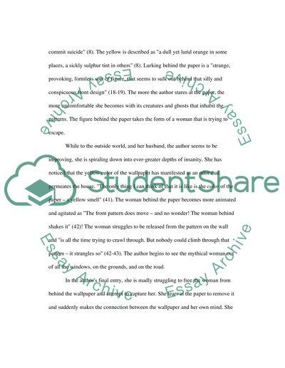 The Yellow Wallpaper Book Report Essay Example | Topics ...