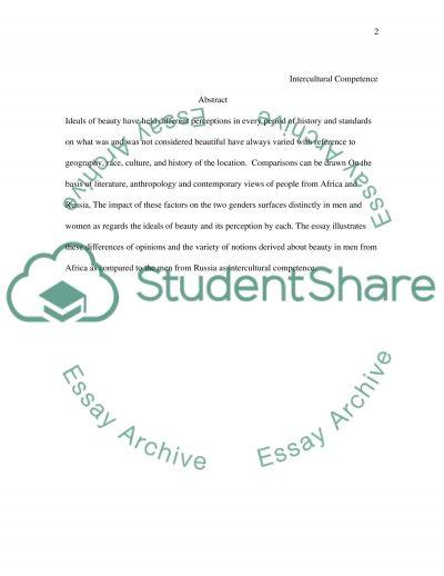 Intercultural competence essay example