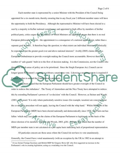 E Union Law Essay example