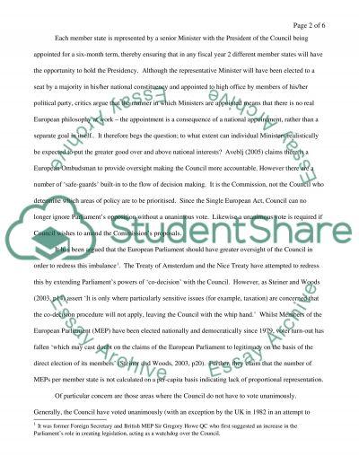 E Union Law essay example