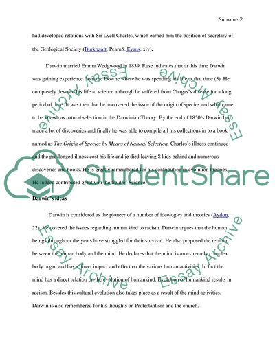 Charles Darwin Essay Example  Topics And Well Written Essays    Charles Darwin