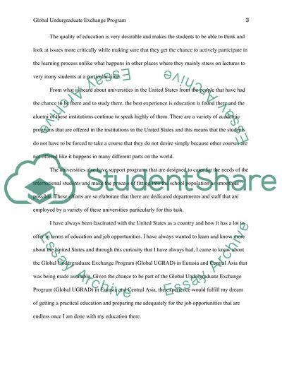 Exchange Programs essays