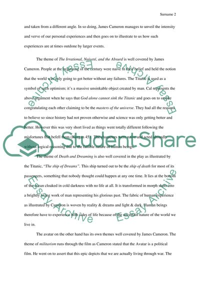 James Camron English Essay