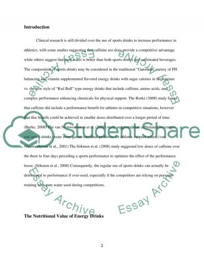 Dump the Energy Drinks essay example