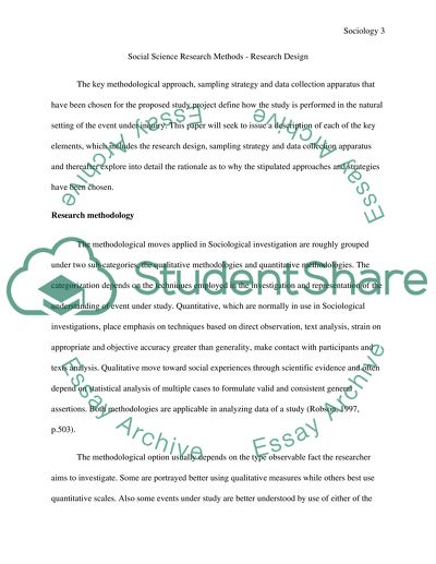 Social Science Research Methods Research Design Essay
