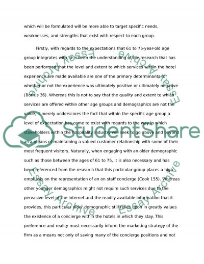 Marriott Hotels essay example