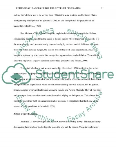 Literature Review on Leadership Theories, Leadership styles and Visioning essay example