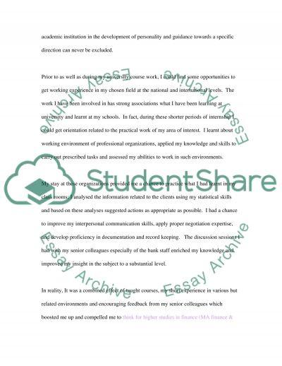 Postgraduate Education essay example