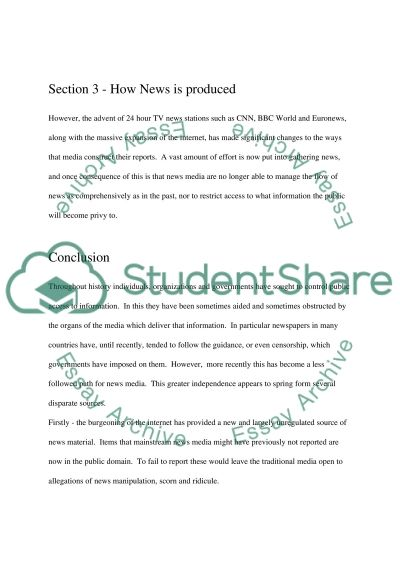 What is News essay example