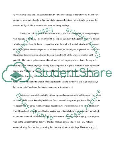 Attributes of an Effective Teacher