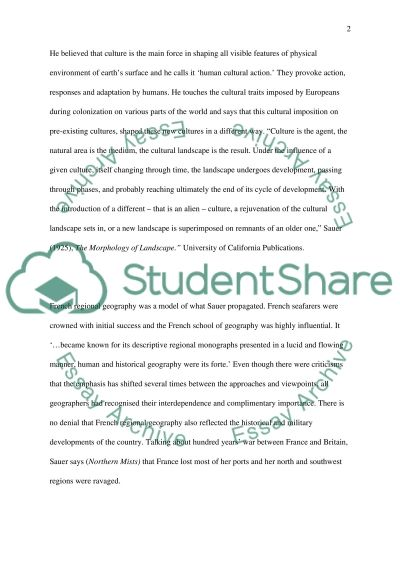 geography College Essay Essay example