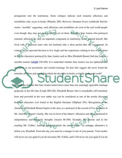 Essay topics for pride and prejudice