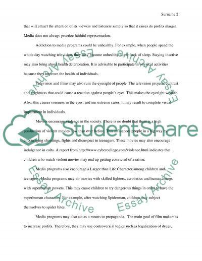 Media Programming essay example