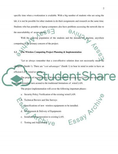 Wireless technology Essay essay example