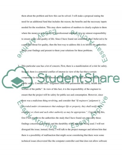 Engineering Ethics Case Studies essay example