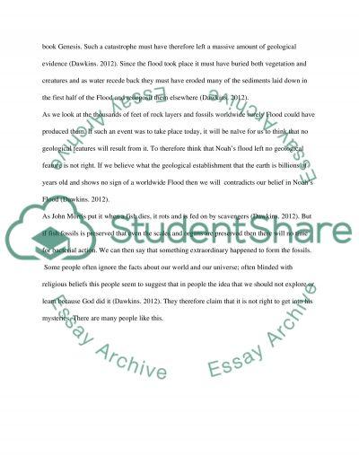 Geology essay example