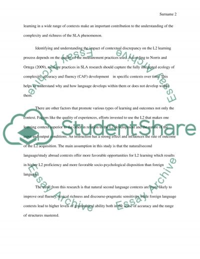 Summarize the article essay example