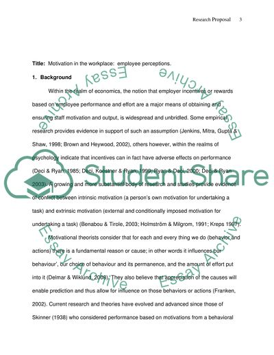 Masters Research Proposal Assignment