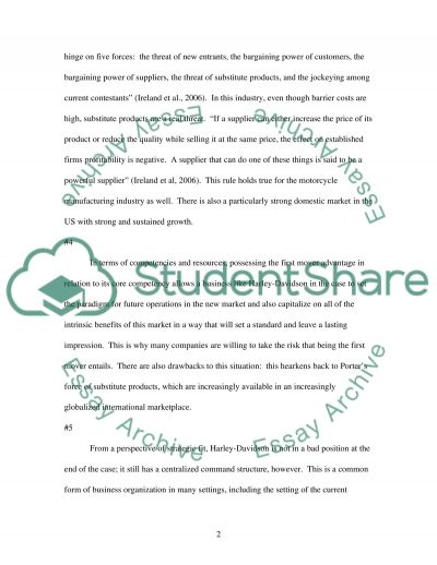 Case Study in Strategic Management essay example