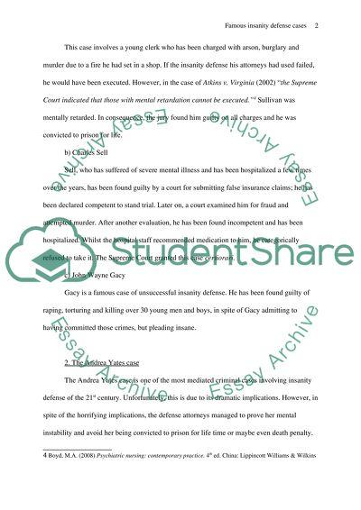 Insanity Defense Essay   Many Essays