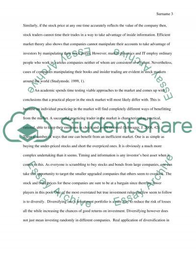 Portfolio Management essay example