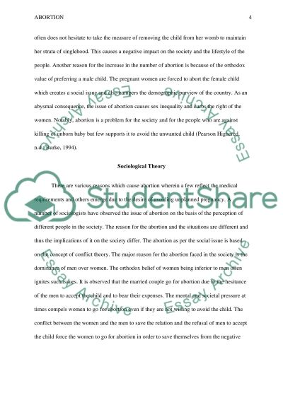 Abortion definition essay
