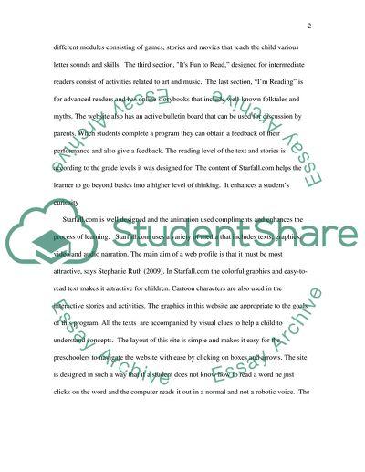 A Critique of the Site StarFall.com Design and Content