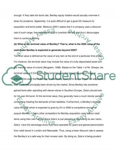 Mergers and aqcuisition essay example