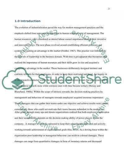 ilm leadership styles essay