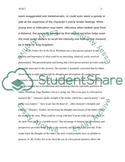 First Person Narration essay example