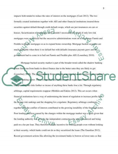 2007 financial crisis essay example