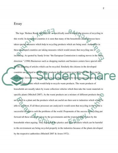The Real Future of Recycling essay example