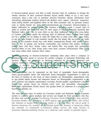 Marketing High School Essay