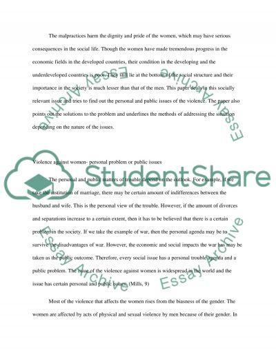 Mills Paper essay example