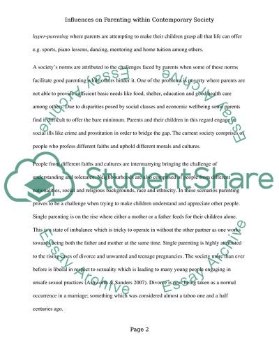 parents effect on child behavior essay