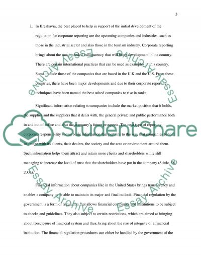 corporate reporting Essay example
